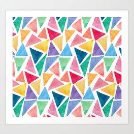 Colorful triangle Art Print