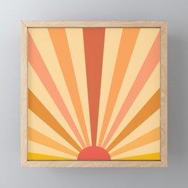 retro sunshine Framed Mini Art Print