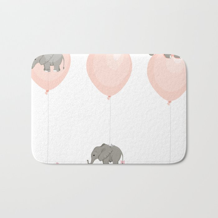 Elephant, globe and mouse Bath Mat