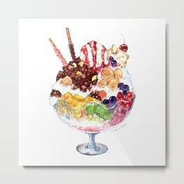 Red Bean Sherbet (Patbingsu) Metal Print