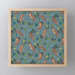Ottering Around Pattern Framed Mini Art Print
