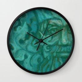 Green Man / Forest King, fantasy art, celtic folklore Wall Clock