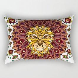 Lion Mandala in Colour Rectangular Pillow