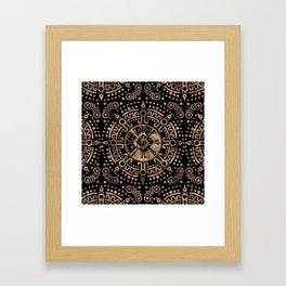 Hunab Ku Gold on black Framed Art Print