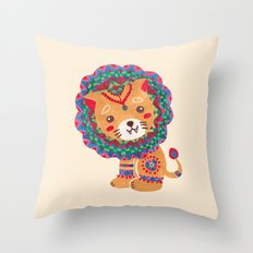 The Little King of the Jungle Throw Pillow