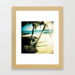 The Clear Blue Caribbean Sea Framed Art Print