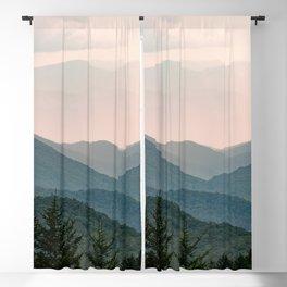 Smoky Mountain Pastel Sunset Blackout Curtain