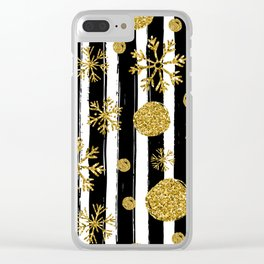 Christmas sparkle and snowflakes Clear iPhone Case