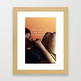 Drawing Snaps #2 Framed Art Print