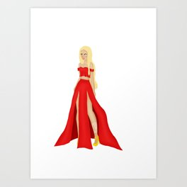 Mor Dress Design Art Print