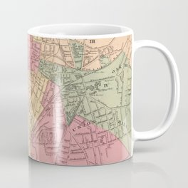 Vintage Map of Worcester MA (1871) Coffee Mug