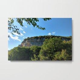 rock cliff at lim channel fjord istria croatia europe Metal Print