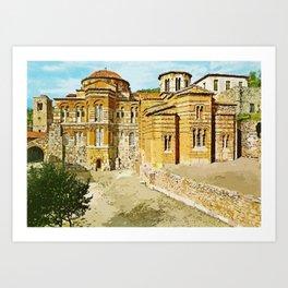 Hosios Loukas monastery Distomo Greece Art Print