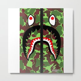 Bape Green Metal Print