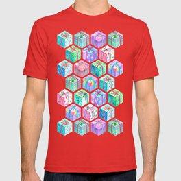 Christmas Gift Hexagons T-shirt
