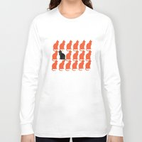 contemporary Long Sleeve T-shirts featuring CATTERN SERIES 2 by Catspaws