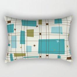 Mid-Century Modern (teal) Rectangular Pillow