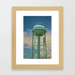 Tower And Clouds Framed Art Print