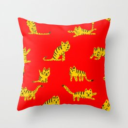Tigrrrrs Throw Pillow