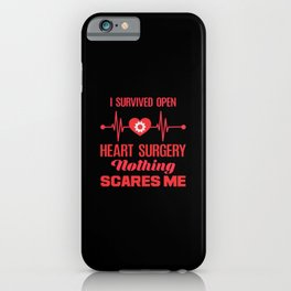 Open Heart Surgery Survivor Get Well Recovery iPhone Case