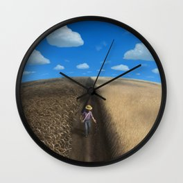 Sow and Reap Wall Clock