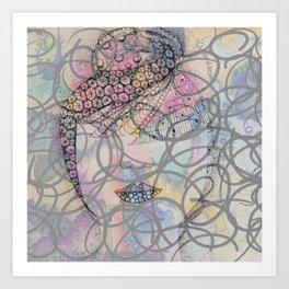 Lady Dreaming Art Print