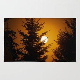 fiery sun Rug