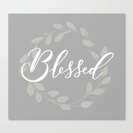 Blessed with Wreath Canvas Print