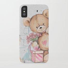 Cute Valentine's Bear iPhone Case
