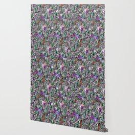 Gemstone Cats UltraViolet Green Palatte Wallpaper