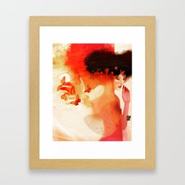 Madame butterfly solo orange  Framed Art Print