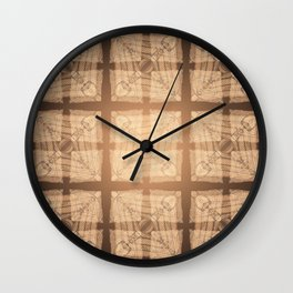abstract feather pattern II Wall Clock