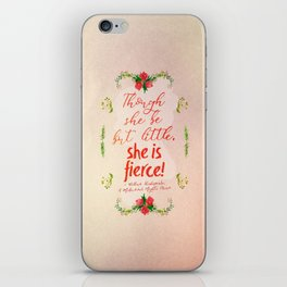 She is Fierce iPhone Skin