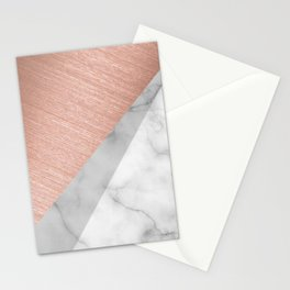 Rose Gold and Marble Stationery Cards
