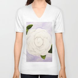Camellia Unisex V-Neck