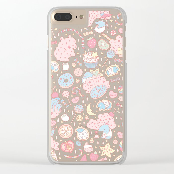 Dreamy Sweets Clear iPhone Case
