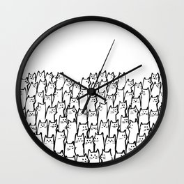 A lot Cats Wall Clock