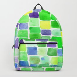 Colorfield Green and Blue Backpack