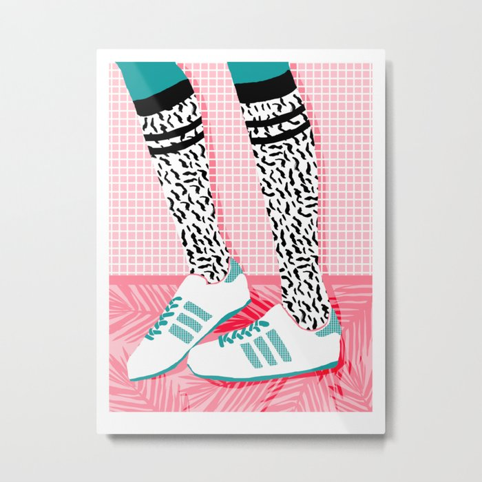 Aiight - sports fashion retro throwback style 1980s neon palm springs socal country club hipster Metal Print
