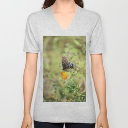 Black Swallowtail Butterfly Unisex V-Neck