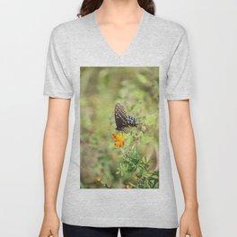 Black Swallowtail Butterfly Unisex V-Neck