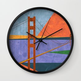 Golden Gate Bridge II Wall Clock