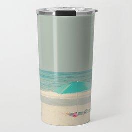 beach umbrella Travel Mug
