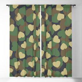 Heart Camo WOODLAND Blackout Curtain