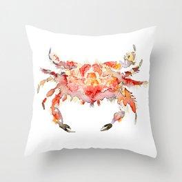 Corail crab Throw Pillow