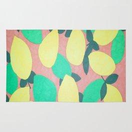 Lemony Fresh Citrus Pattern Rug