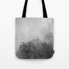 Winter In Black and White Tote Bag