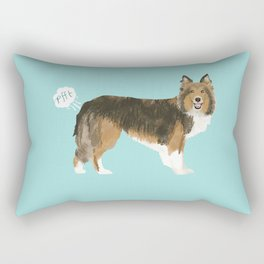sheltie funny farting dog breed pure breed pet gifts Rectangular Pillow