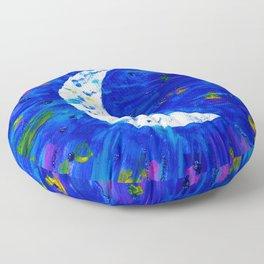 Glitter Crescent Moon Phase Floor Pillow