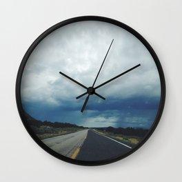 New Mexico back road Wall Clock